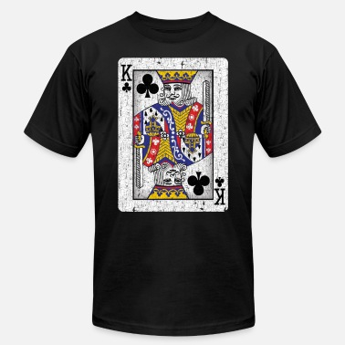 Playing king of clubs playing card - Unisex Jersey T-Shirt