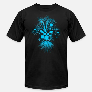 Surreal Drums Tree For Drummers And Music Lovers - Unisex Jersey T-Shirt