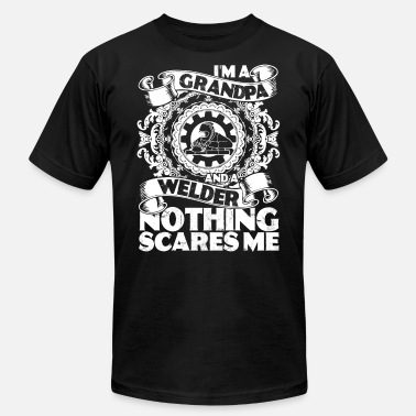 Bearded Dad I'm A Grandpa And A Welder Nothing Scares Me Shirt - Men's  Jersey T-Shirt