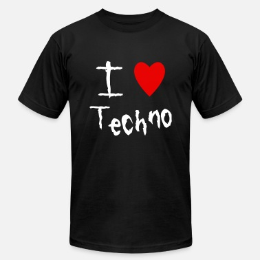 I Love Techno I love Techno - Men's Fine Jersey T-Shirt