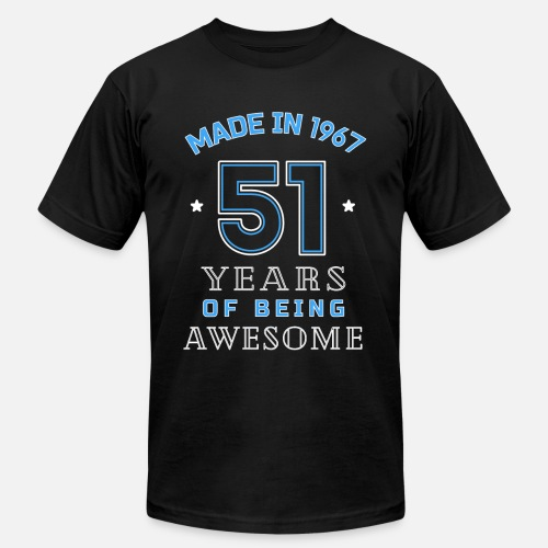 dde26d953 Birthday T-Shirts - 1967 Years of Awesome 51st Birthday Gift - Men's Jersey  T. Do you want to edit the design?