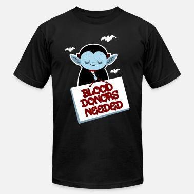 Dracula Dark Blood Donors Needed Halloween Dracula Volunteer Dark - Men's  Jersey T-Shirt