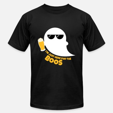 Ghost Drink Beer Here For The Boos Drinking Beer Halloween Ghost - Men's  Jersey T-Shirt