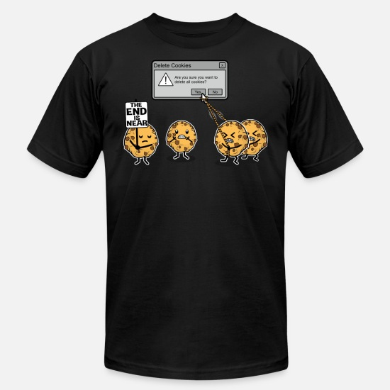 Funny T-Shirts - Deleting Cookies Is A Serious Threat - Men's Jersey T-Shirt black