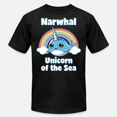 Cute-unicorn-and-rainbow-kids-shirts... Narwhal Unicorn of the Sea T Shirt Rainbow Kids - Men's  Jersey T-Shirt