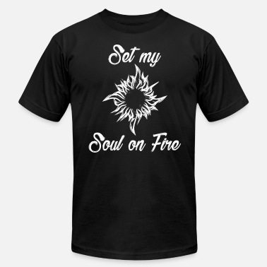 A Fire In My Soul Set My Soul On Fire - Men's Fine Jersey T-Shirt