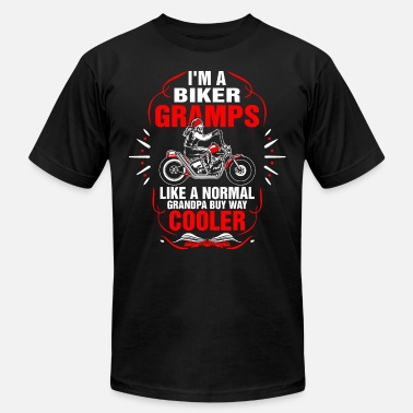 Old Man Bikers Im A Biker Gramps Tshirt - Men's Jersey T-Shirt