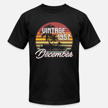 61th 61th Birthday Gifts Retro Vintage December 1957 - Men's  Jersey T-Shirt