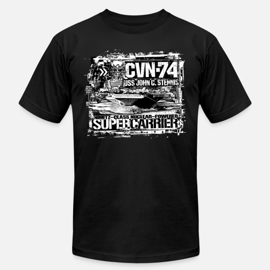 Boat T-Shirts - Aircraft carrier John C. Stennis - Men's Jersey T-Shirt black