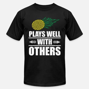 Cuckolded Plays Well With Others Swingers Gift - Men's  Jersey T-Shirt