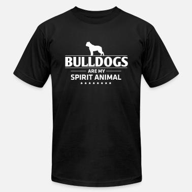 bb9c7d7e Funny Bulldog Design Bulldogs Are My Spirit Animal - Men's Jersey T