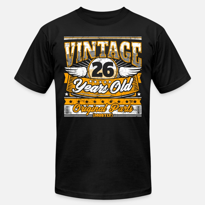 Funny 26th Birthday Shirt Vintage 26 Years Old Mens Jersey T
