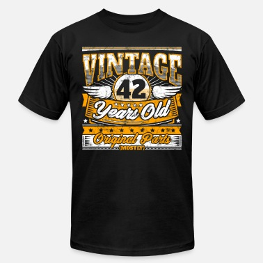42th Birthday Funny Funny 42th Birthday Shirt: Vintage 42 Years Old - Men's  Jersey T-Shirt