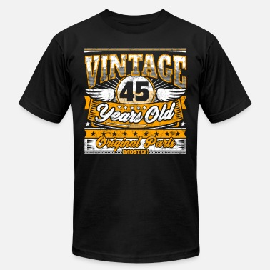Funny 45th Birthday Shirt Vintage 45 Years Old