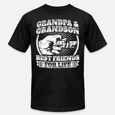 59f90bd0 Grandad Grandpa Grandson Friend Grandparent Kids Child Tee - Men's  Jersey T. Men's Jersey T-Shirt