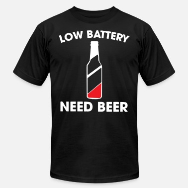 Irish Olympics LOW BATTERY NEED BEER T-SHIRTS - Men's  Jersey T-Shirt