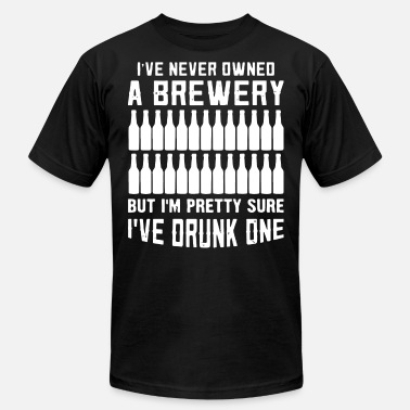 Nude Beer Pong i ve never owned a brewery but i m pretty sure i v - Men's  Jersey T-Shirt