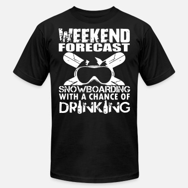 Drinking Beer Snowboarding weekend forest snowboarding with a chance of drink - Men's  Jersey T-Shirt