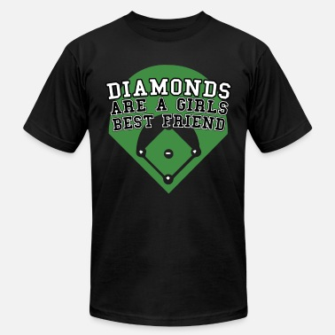 Breast Pitcher Diamonds Are A Girls Best Friend Softball Baseball - Men's Jersey T-Shirt