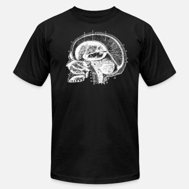 Biology Vintage Human Anatomy Head - Men's Jersey T-Shirt