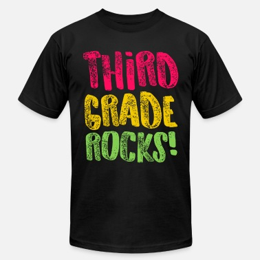 Third Grade Rock Third Grade Rocks Funny Third Grade 3rd Teacher Appreciation Gift - Men's Jersey T-Shirt