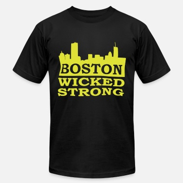Wicked Awesome Boston Wicked Strong Marathon Boston Marathon Bost - Men's Jersey T-Shirt