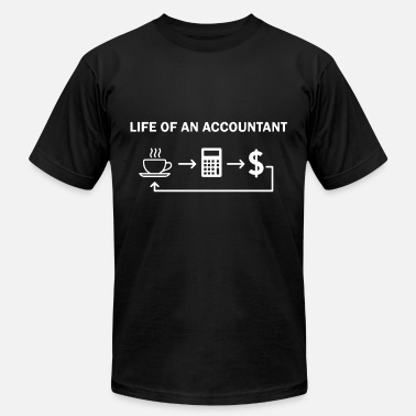 4375666c7 Accounting life of an accountant wife t shirts - Men's Jersey T
