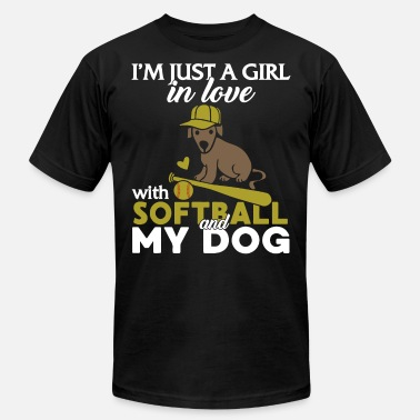 i m just a girl in love with soft and my dog dog - Unisex Jersey T-Shirt