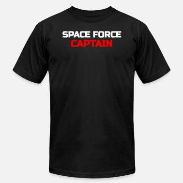 Meme Military Space Force Captain USA Galactic Military - Men's  Jersey T-Shirt