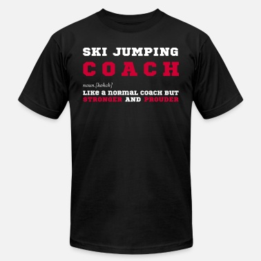 Jumping Ski Jumping Coach - Gift for Ski Jumping Coaches - Men's  Jersey T-Shirt