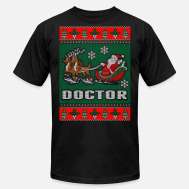 Doctor Christmas Doctor Ugly Christmas Sweater - Men's Jersey T-Shirt