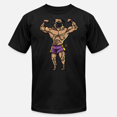 Lift Pug Dog Fitness Workout Boydbuilding Gym Lifting - Men's Jersey T-Shirt