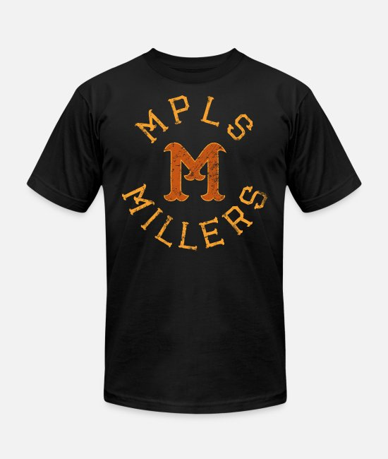 Minnesota T-Shirts - MINNEAPOLIS MILLERS - Unisex Jersey T-Shirt black