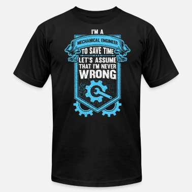 To Save Time Mechanical Engineer Save Time With Engineers - Men's Fine Jersey T-Shirt