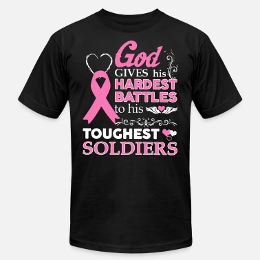 Battles god gives his hardest battles to his strongest sol - Men's  Jersey T-Shirt
