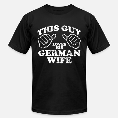 Drunk Berlin THIS GUY LOVES HIS GERMAN WIFE - Men's  Jersey T-Shirt