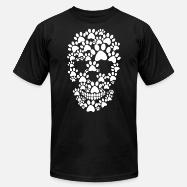Keep Calm And Walk The Bernese Mountain Dog Paw dog prints skull - Men's  Jersey T-Shirt