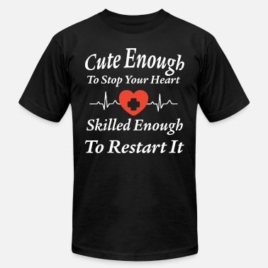 Enough Cute enough to stop your heart skilled enough to r - Men's Jersey T-Shirt