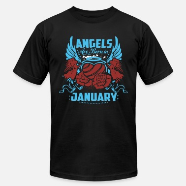angel are born in january - Men's Jersey T-Shirt