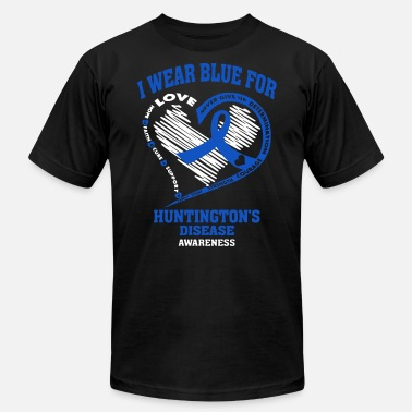 Huntingtons Disease I wear blue for huntington's disease awareness - Men's  Jersey T-Shirt