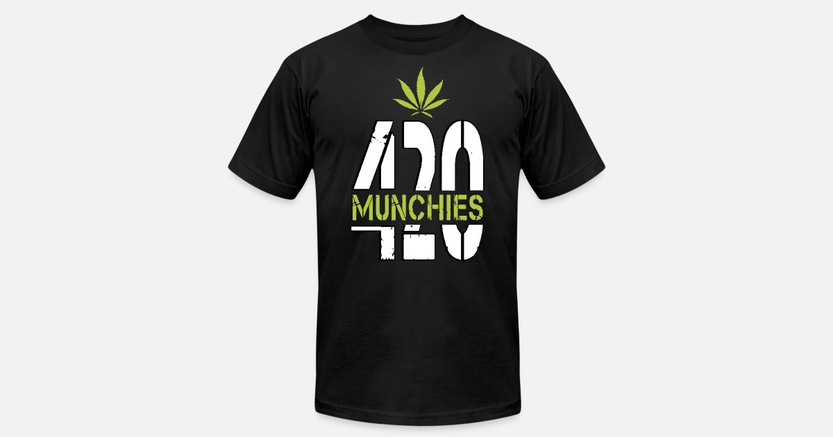 420 Munchies Weed leaf cannabis funny Men's Jersey T Shirt | Spreadshirt