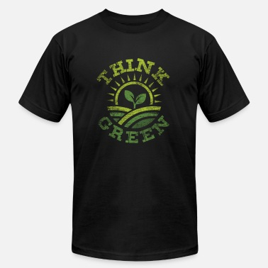 Climatic Protection Think Green gift climate protection love earth - Men's Fine Jersey T-Shirt