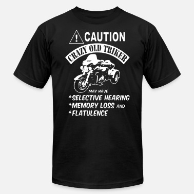 Trikers caution crazy old triker bike t shirts - Men's  Jersey T-Shirt