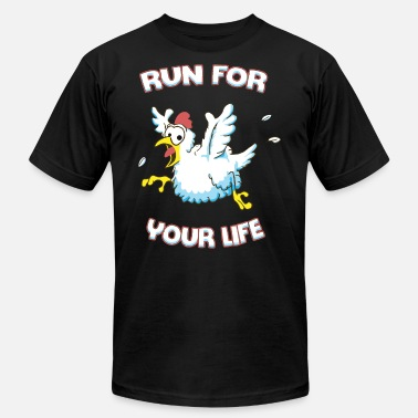 Run For Your Life Run for your life chicken - Men's  Jersey T-Shirt