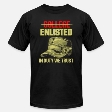 Enlisted Navy College Enlisted Funny Veterans Patriotic Gift - Men's Jersey T-Shirt