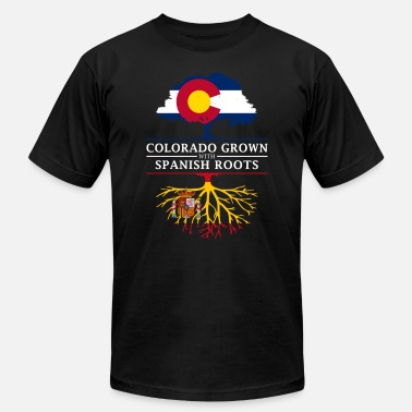 Spain Pride Colorado Grown with Spanish Roots Spain Design - Men's  Jersey T-Shirt