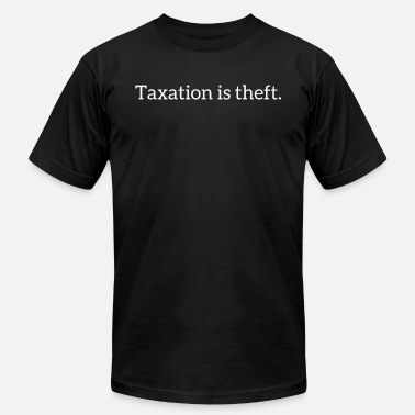 Libertarian Taxation is theft - Men's Jersey T-Shirt