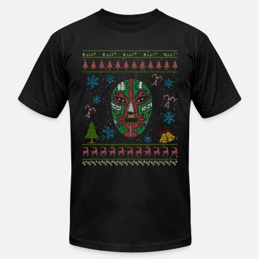 Mexican Wrestling Mexican Wrestler Christmas Ugly Shirt Mexican Wrestling - Men's Jersey T-Shirt