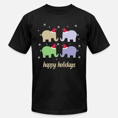 Elephants Christmas Christmas Elephant Animal - Men's  Jersey T-Shirt
