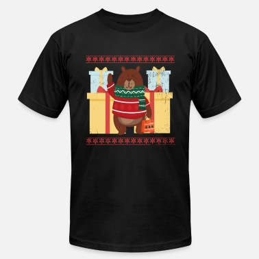 Ugly Bear Christmas Ugly Christmas Sweater Bear - Men's  Jersey T-Shirt